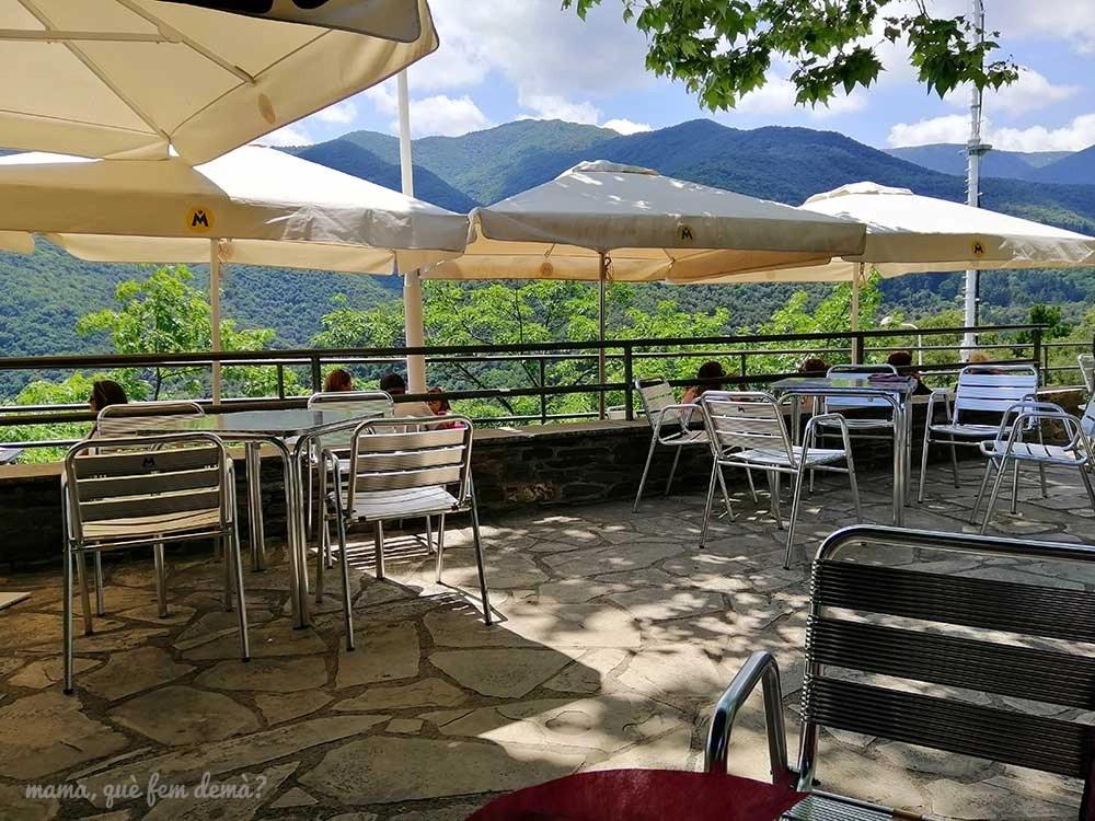 Terraza del restaurante Fonda Montseny