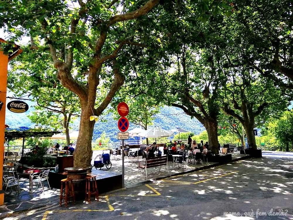 Plaça de la Vila del pueblo del Montseny