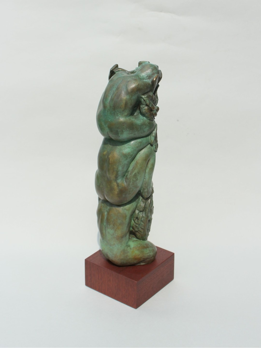 "Jacqueline Lorieo, Upon Their Shoulders, Bronze, 13""x4""x4"", $2,000"