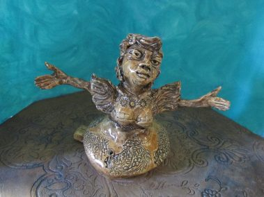 "Joel Trieger, Lady Caramel ceramic whistle, Ceramic, 7"" x 9"" x 5"", $75"