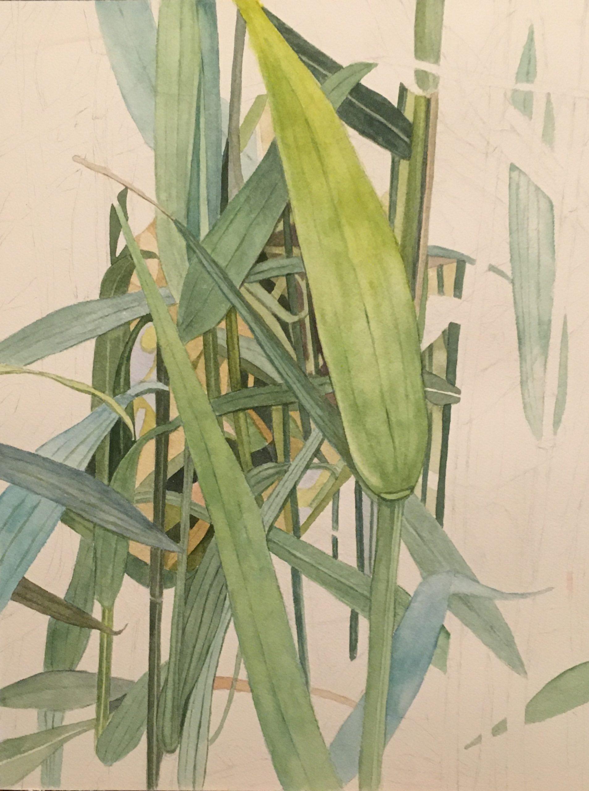 "Lorie Gurian, Grasses, Watercolor, 12""x16"", $300"