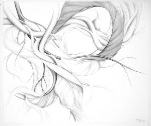 """Suzanne Montresor, Flight, Graphite & watercolor, 28""""x32"""", $1,200"""