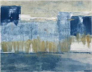 "Ellen Lazarus, Blocks in Space, Monotype, 14""x18"", $1,000"