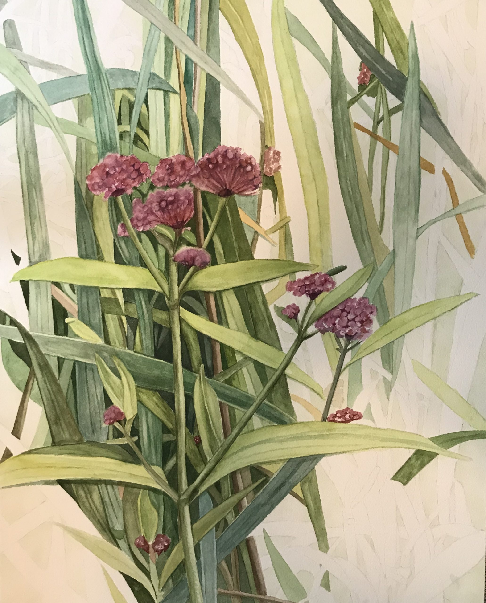 "Lorie Gurian, Wildflowers, Watercolor, 14""x20"", $300"