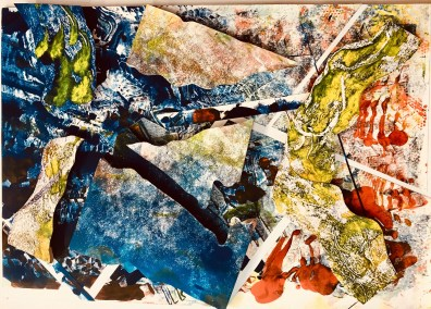 "Jacqueline Loreio, Charybdis and the Sirens, Sculptural 3-D monotype, 22""x15"", $800"