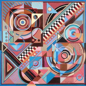 "Larry Gordon, My Secret Music, Acrylic/Canvas, 36""x36"", $5,000"