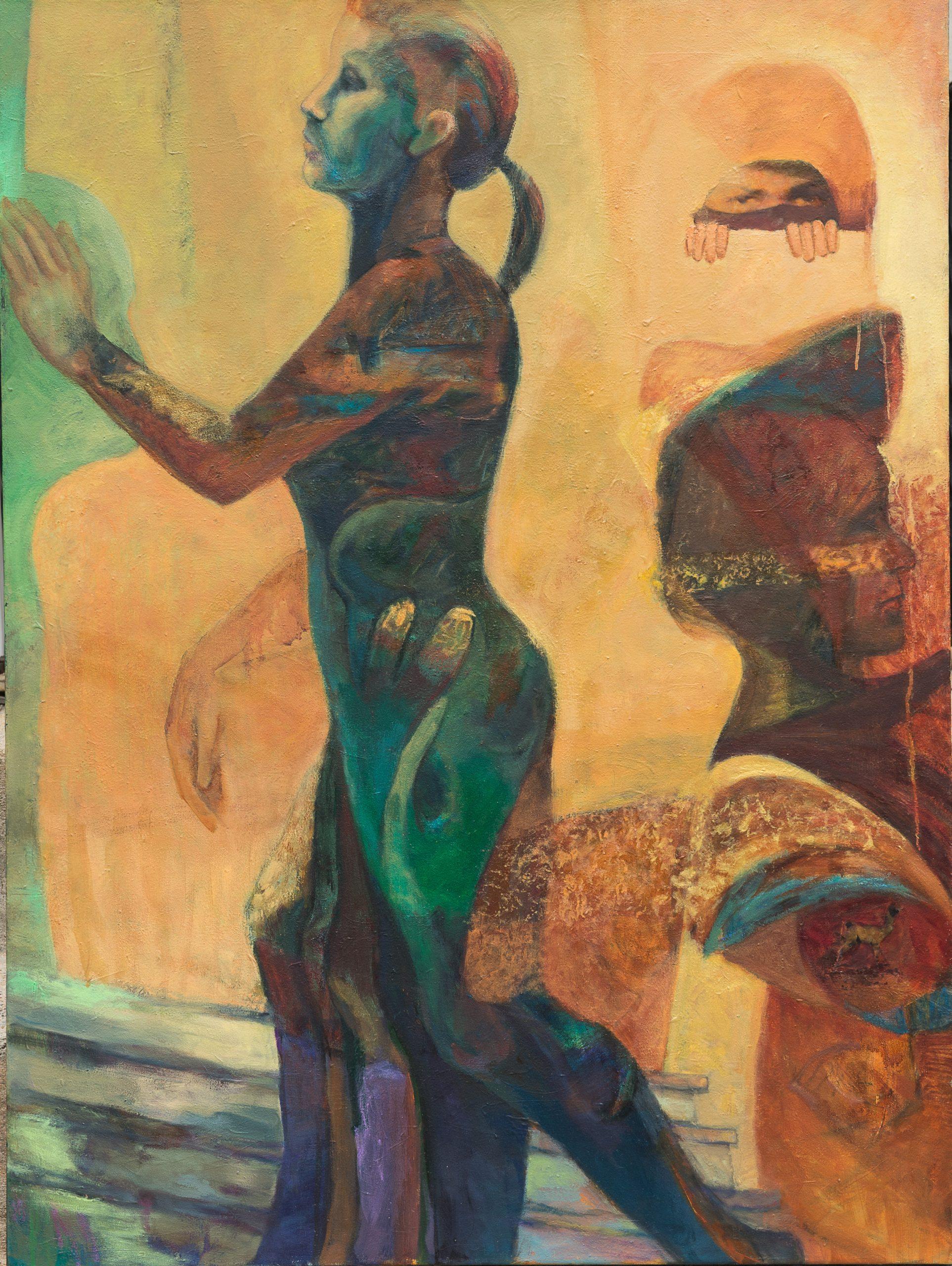 """Paula Blumenfeld, Just walk away, Oil, 48""""x36"""", $3,200"""