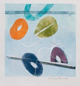 """Helen Pasternack, Parallel Lines, Monotype, 12""""x12"""", $400"""