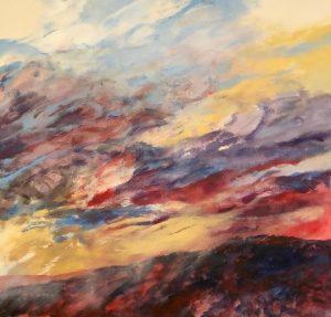 "Helen Schiliro, Storm Clouds, Acrylic, 15""x20"", $800"