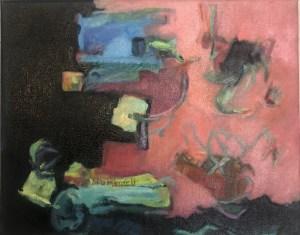 "Paula Blumenfeld, My dark girls sally forth again, Oil on canvas, 10""x12"", $465"
