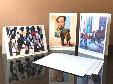 "Marion Schneider, Greeting cards, 5""x7"", 3 for $15"