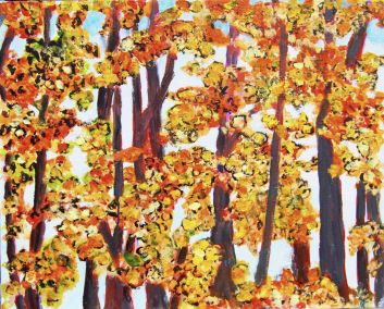 """Don Sexton, Foliage 1, Oil on canvas, 16""""X20"""", $380"""