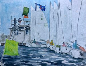 "Tricia K Leicht, The Start, Watercolor, 9""x11.5"", $475"