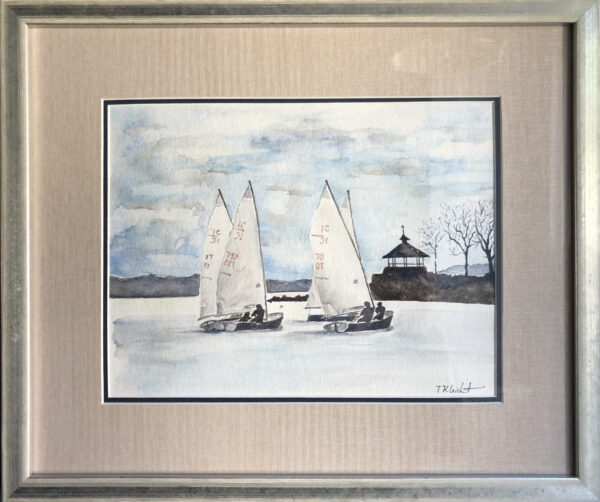 "Tricia K Leicht, Winter Sundays, Watercolor, 8.5""x11"" framed, $625"