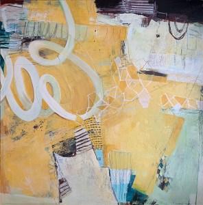 "Roohi Saleem, Sunshine in the Window, Acrylics on Canvas, 30""x30"", $1,800"