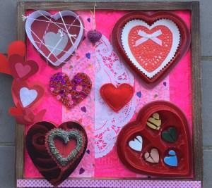 """Lydia Hassan, Heart 2 Heart, Mixed media, 12""""x12"""", $225"""