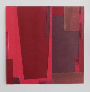 "Mitchell Visoky, Healing, Paper collage, 14""x14"" w/mat, $400"