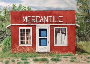 "Jim Maciel, Closed, Watercolor, 24""x30"", $250"