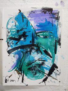 """Fabian Wes Fleurant, Next.. then?, Watercolor, 9""""x12"""", $700"""