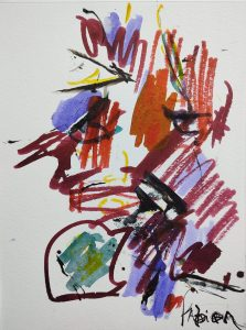 "Fabian Wes Fleurant, Untitled, Watercolor, 9""x12"", $500"