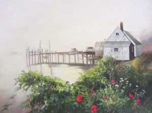 "Sherri Paul, Misty Morning, Oil on canvas, 18""x24"", $650"