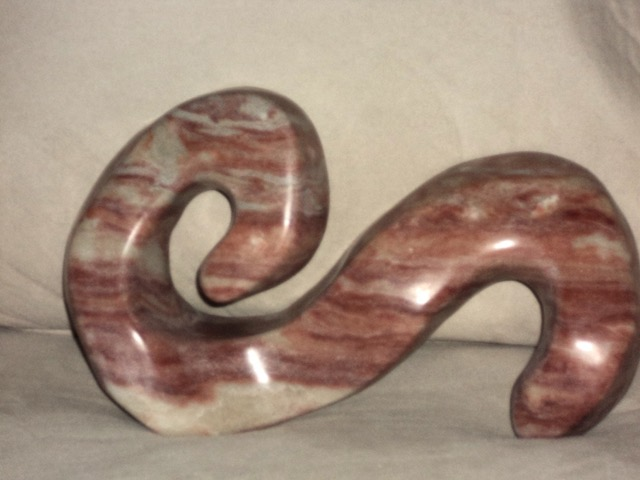 "Debora Solomon, Untitled, Alabaster , 14""x6""x8 "", $400"