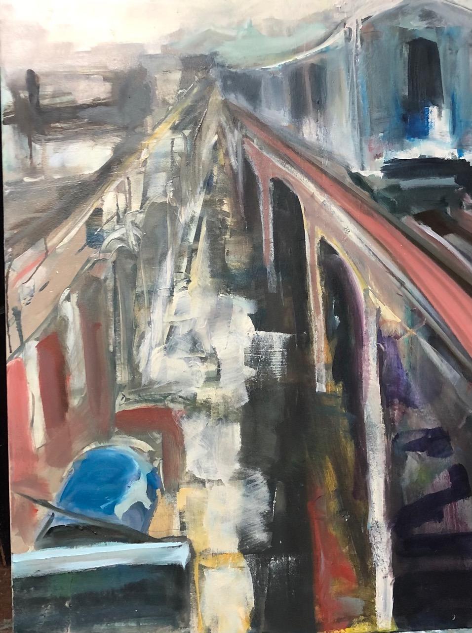 "Ruth Obernbreit, Bronx, Oil, 24""x36"", $1,400"