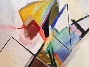 """Leslie Hardie, Mantis, Oil on canvas, 20""""x16"""", $650"""