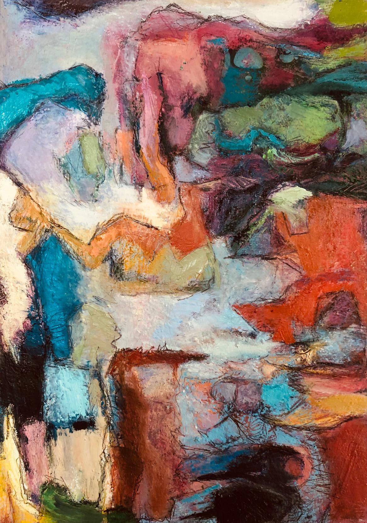 "Paula Blumenfeld, Elephant Walk, Oil on paper, 15""x12"", $795"