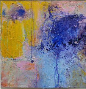 """Fabian Wes Fleurant,Evanescence, Acrylic on canvas, 14""""x14"""", $900"""