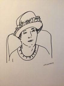 Sketch by Hilda Demsky