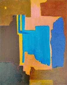 """Fabian Wes Fleurant, Cityscape, Acrylic, 24""""x30"""", $1,400"""