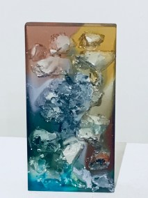 "Jacqueline Lorieo, Cascade, Cast glass, 10""x5""x1.5"", $650"
