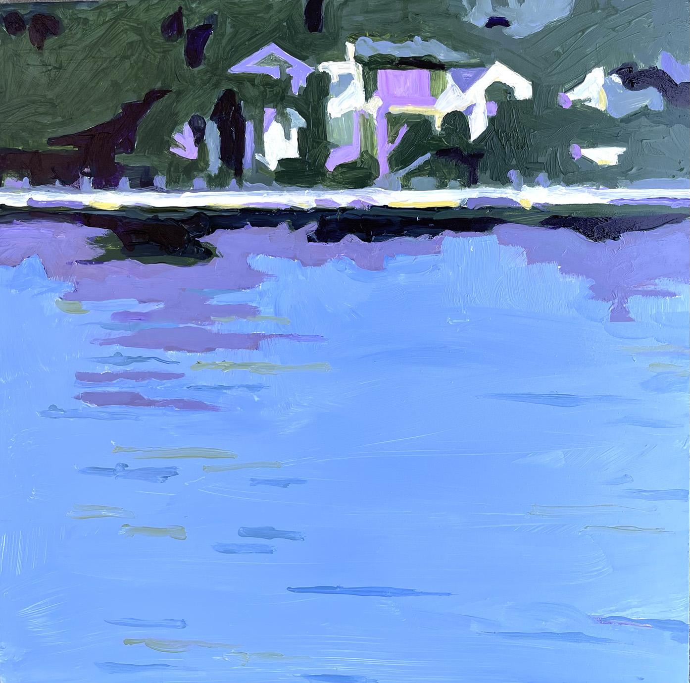 "Marion Schneider, Mamaroneck Harbor #1, Acrylic, 12""x12"", $800"