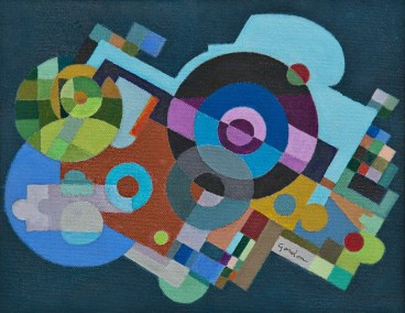 """Larry Gordon, Time After Time, Acrylic (Framed), 10""""x8.5"""", $750"""