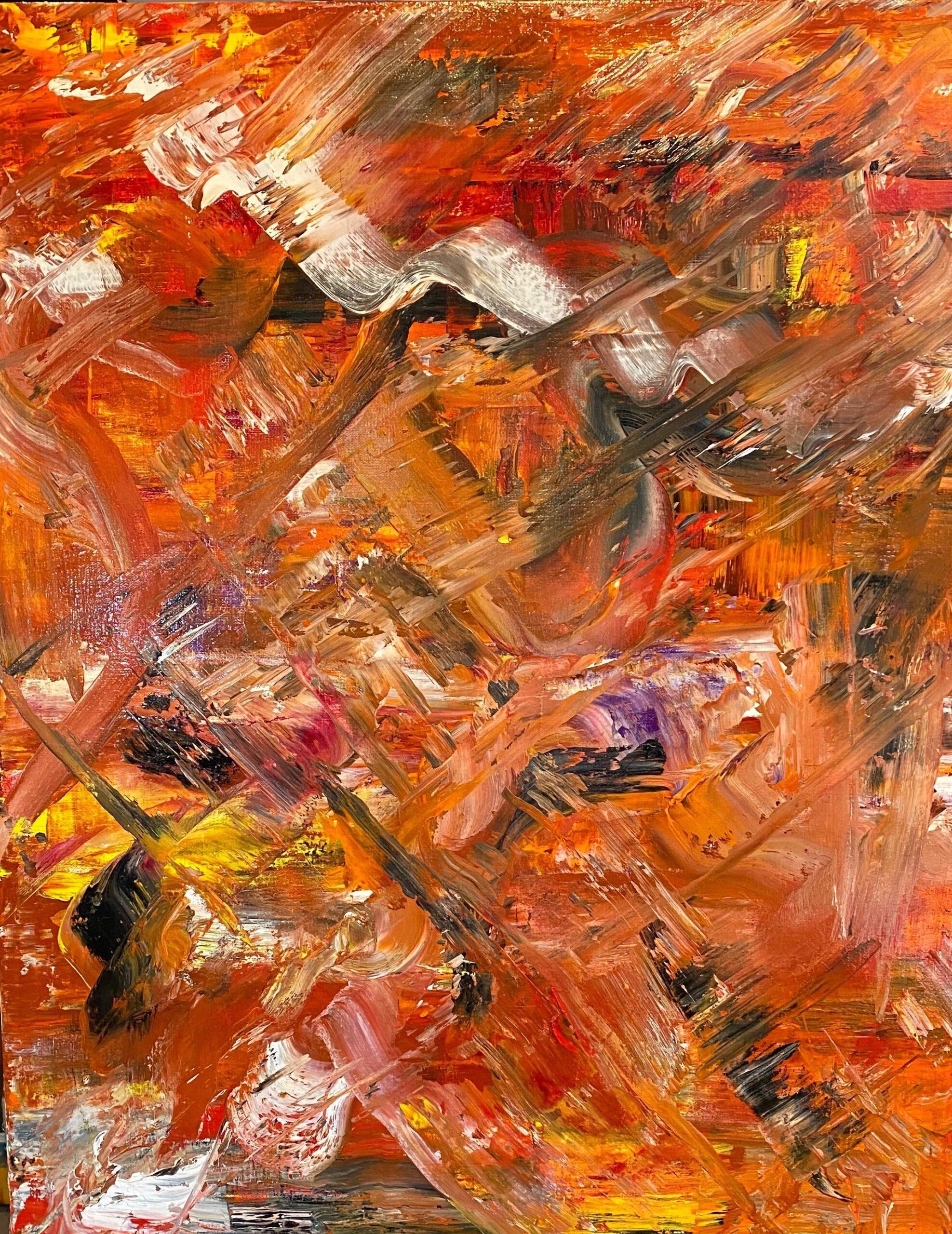 "David Alge, Layered lightly, Oil on canvas, 30""x24"", $500"