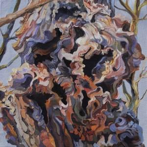 "Julia Eisen-Lester, Tree Tumors,Oil on canvas, 20""x20"", $1,200"