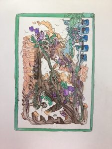 "Inge Pape Trampler, Zechariah 3:2, Acrylic, 8.5""x11"", $500"