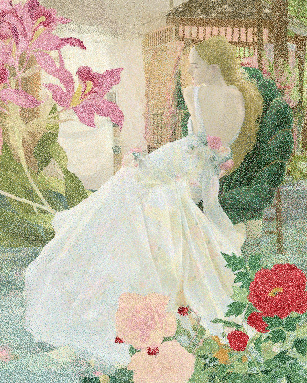 "Donna Faranda, Garden Party, Digital Art, 22""x26"", $1,200"