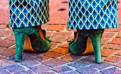"David Greene, Green Shoes, Photograph on paper, 22""x18"", $375"