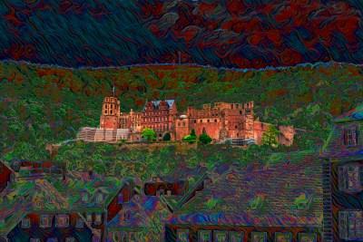 "H. David Stein, Heidelberg Castle, Phantasmagorical Photograph, 18""x24"" matted, $325"