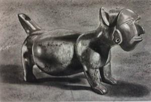 "Jim Maciel, Animals led to the underworld, Sumi ink, 24""x36"", $250"