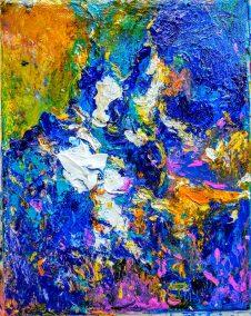 """Fabian Wes Fleurant, Summer Fairy, Acrylic on canvas, 20""""x24"""", $1,100"""