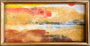 "Jacqueline Lorieo, Desert Hills, Monotype, akua ink, 8""x4"", $295"