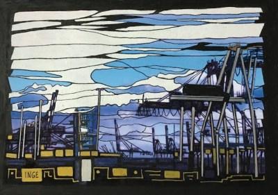 """Inge Pape Trampler, #826, Ink on paper, 5""""x7"""", $150"""