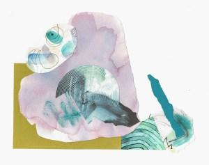 "Christine Timmons, Summer Daze, Collage, 13""x18"", $300"