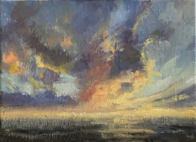 "Deborah Petrucci, Radiance Within, Oil on canvas , 9""x12"" , $375"
