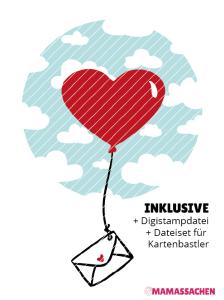 Plottdesign Mamas Sachen Makerist   Luftpost   Herzluftballon   Liebe   Liebesbrief