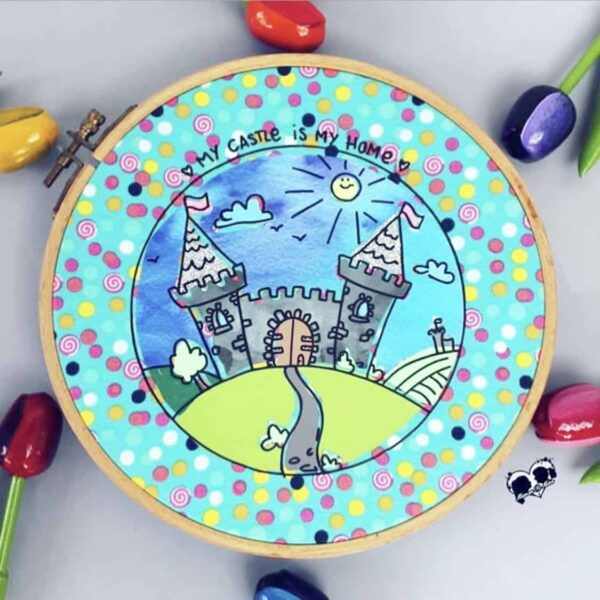 Ritterburg doodleplott & Malvorlage - mamassachen