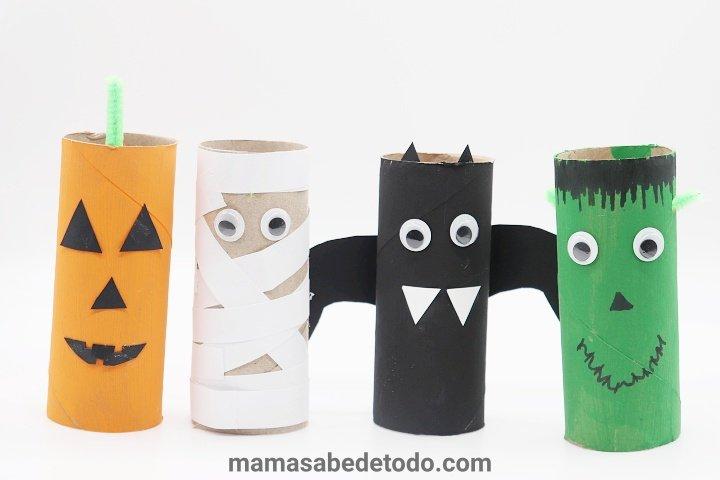Manualidades-para-Halloween-con-rollos-de-papel